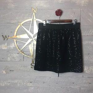 NWT Sassy Black sequin skirt